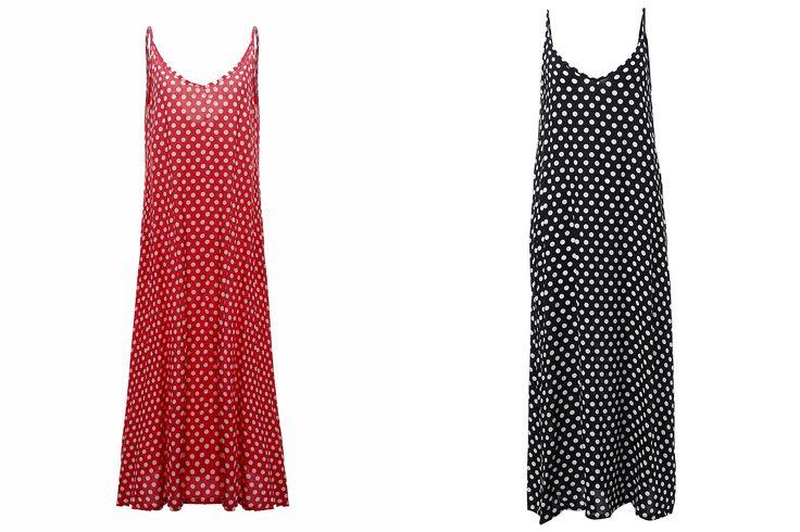 Women Summer Sexy V-Neck Strap Dot Backless Beach Maxi Dress