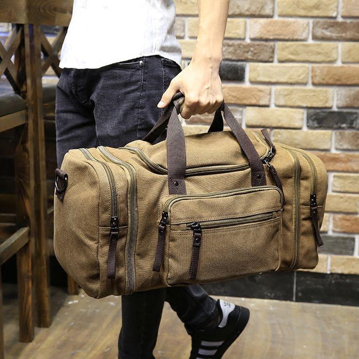 Xiao. p Lona militar Vintage hombres viajan bolsas de Equipaje de mano bolsas de Los Hombres bolsas de Lona viajes totalizador grande de fin de semana bolsa de Viaje