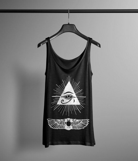 Eye of Horus Tank  Hand Drawn Graphic Tank  by LafayetteFactory