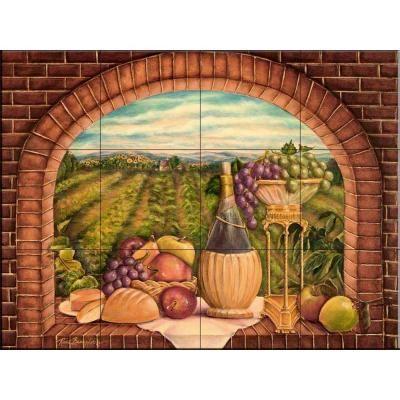 17 best images about ceramic art tiles for food preparer for Ceramic wall mural