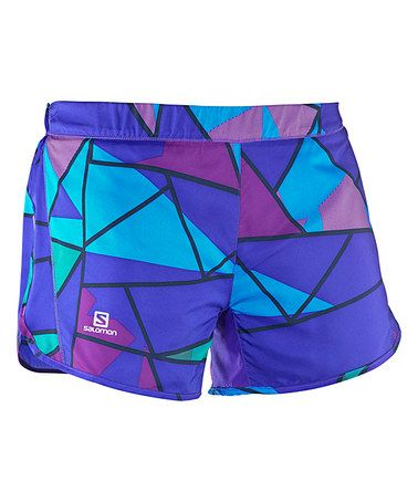 Look what I found on #zulily! Phlox Violet & Luz Purple Agile Color Block Shorts - Women #zulilyfinds