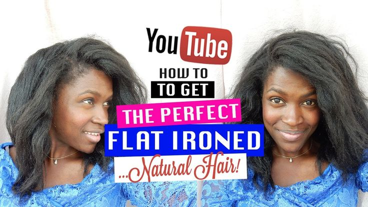 How to Straighten Natural Hair Without Heat Damage 2016!