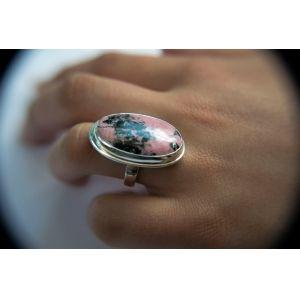 Ezüst gyűrű rodonit kővel /75157/ 3