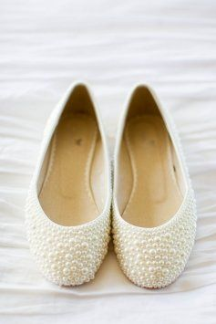 Pearl Flats Wedding Shoes $65