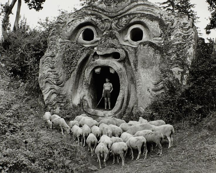 © Herbert List, 1952, Parco dei Mostri, Palazzo Orsini, Bomarzo, Italy » find more of Magnum Photos here «