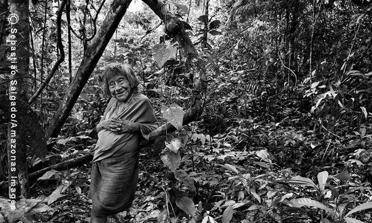 Amerytxia é a anciã da comunidade Awá. Ela decidiu viver sozinha na floresta, distante da Aldeia Juriti, com apenas uma rede e uma fogueira
