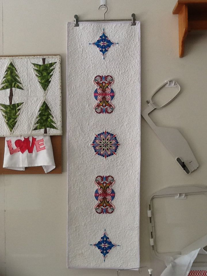 Table runner from designs in Janome 9900