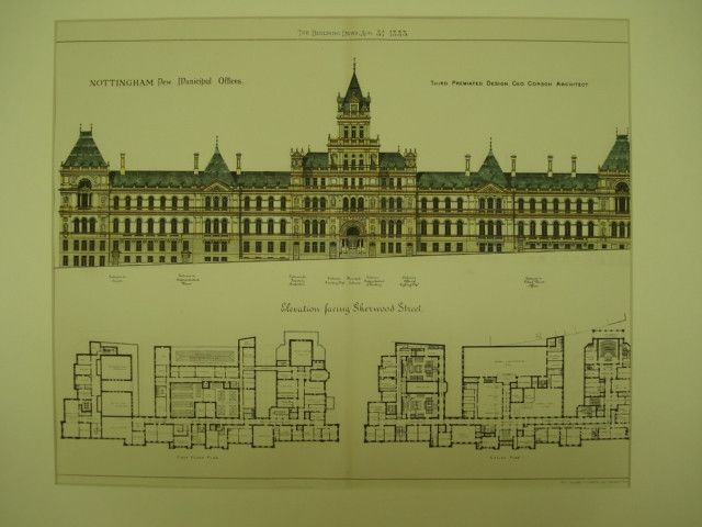 New Municipal Offices , Nottingham, England, UK, 1883, Geo. Corson