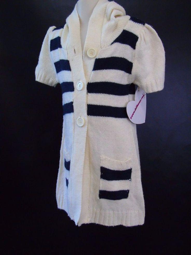 Hooded Cardigan Dollhouse Little Girls Short Sleeve Knit Long Sweater Sz L / 6X   Clothing, Shoes & Accessories, Kids' Clothing, Shoes & Accs, Girls' Clothing (Sizes 4 & Up)   eBay!