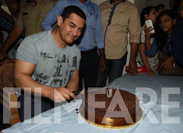 Aamir Khan celebrates his 50th birthday.13.3.15