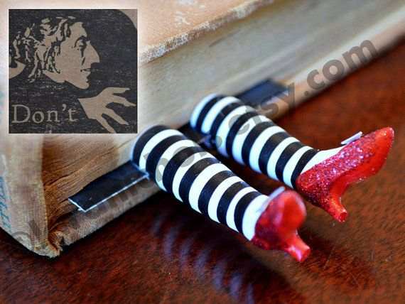 Flying Monkeys - The ORIGINAL Wicked Witch Bookmark  - Ruby Slippers Bookmark - Witch Legs Bookmark