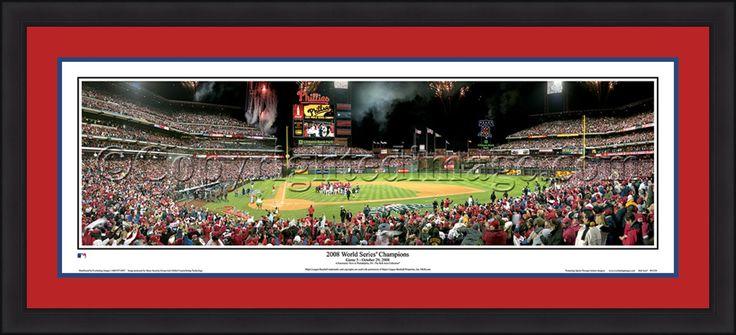 Philadelphia Phillies Citizen's Bank Park 2008 World Series Championship Celebration MLB Baseball Rob Arra Framed and Matted Stadium Panorama