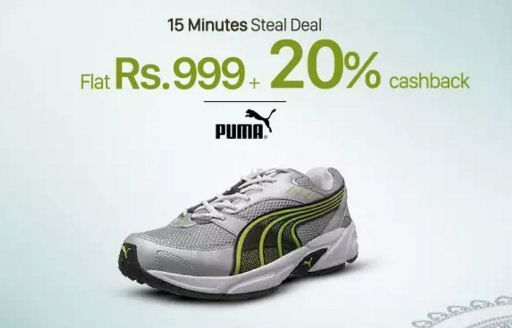 Browse freecouponcodes.co.in to use paytm coupons to paytm Recharge or Pay bills of ₹75 or more & get flat ₹500 Cashback on Puma shoes of ₹999 & above @paytm.com