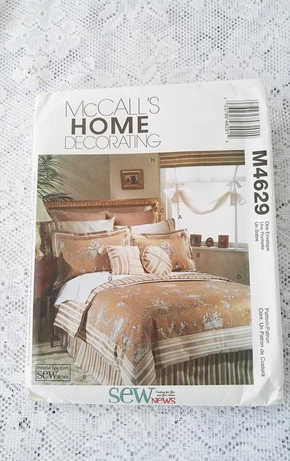 Mccall S Bedroom Sewing Patterns Mccall S Home Etsy Mccalls Sewing Patterns Home Decor Home
