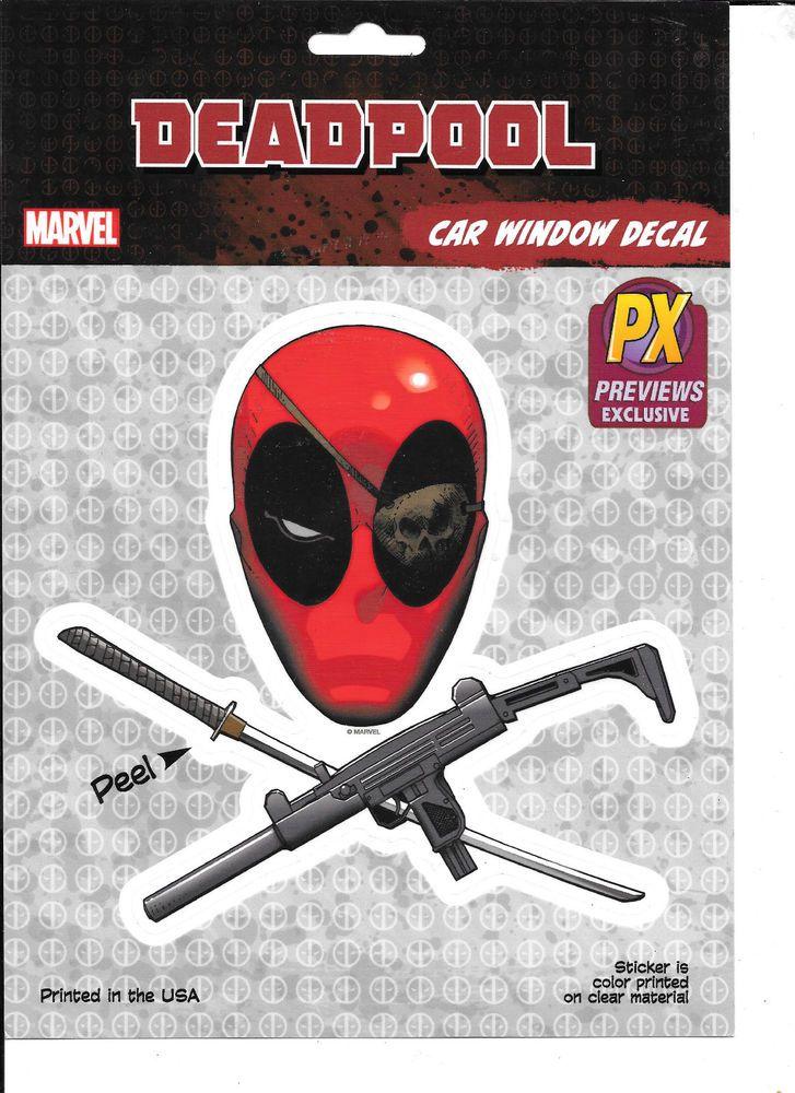 Marvel PX Previews Exclusive DEADPOOL Car Window Decal Sticker (large) #Fanwraps