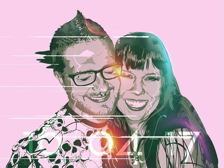 A commission for two friends of mine who got married yesterday.  Unfortunately I couldn't be at the wedding but I am so happy to have been able to do this portrait for them! #artistsoninstagram #vectorart #vector #vectorportrait #illustrator #illustration #wedding #marriage #couple #love #happy #smile #smiling #us #forever #husband #wife #husbandandwife #etsy #etsyseller #congratulations #joy #inlove #art #portrait #light #cuddle #hug #weddinggift