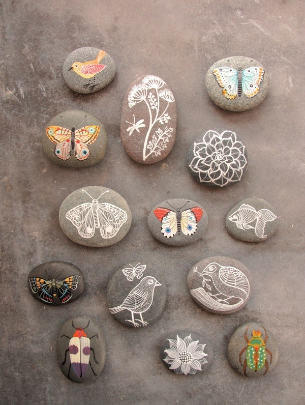 Painted rocks crafts pinterest for Crafts using stones