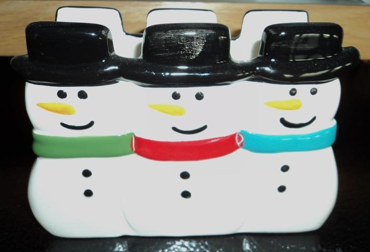 Snowman Napkin HolderNapkins Holders, Snowman Napkins, Christmas Snowmen