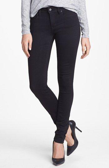 Mavi Jeans 'Alexa' Mid Rise Skinny Jeans (Jet Black) available at #Nordstrom