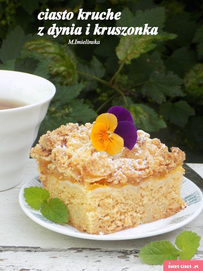 półkruche ciasto z dynią i kruszonką
