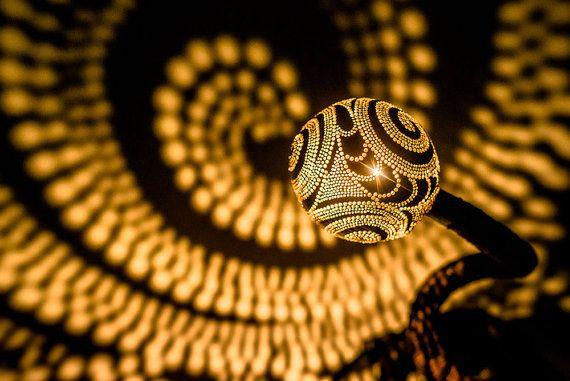 Nymphes lampe n ° 22 - Gourde lampe main Table lampes abat-jour abat-jour Mid Century lampes pendentif fée s'allume lustre éclairage