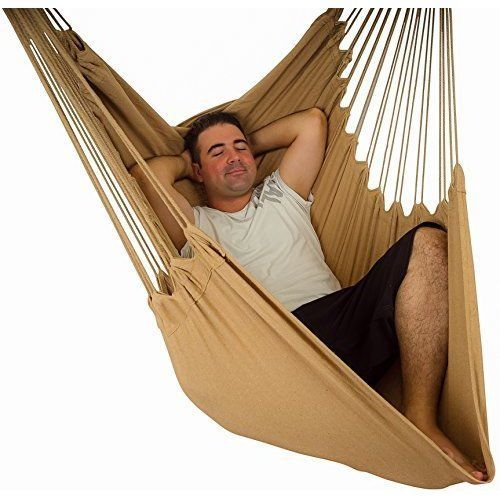 Hammock Chair Swing Patio Durable Hanging Rope XXL Lounge Seat Outdoor Garden #HammockChairSwing