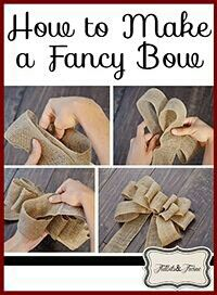 .How to make a fancy bow