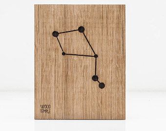 Zodiac Constellation Wooden Picture - Libra (23.09 - 22.10)