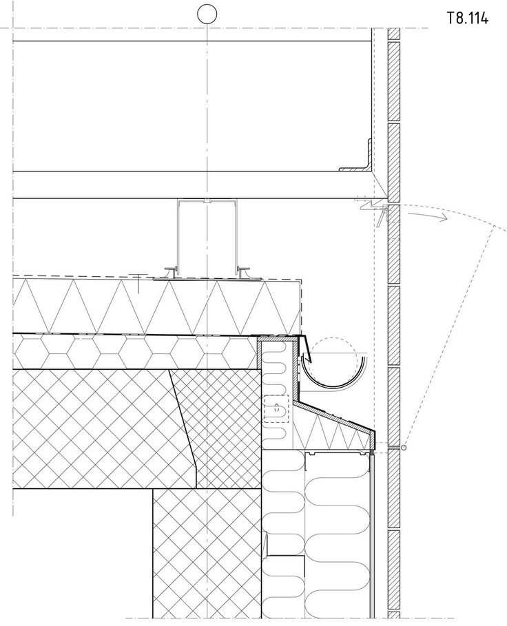 Detail drawings ref 3, wall ceiling junction? The Mountain, BIG Architects