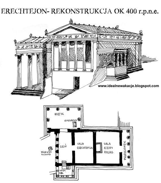 rekonstrukcja Erechtejonu  (plan i widok)