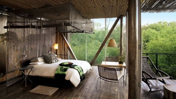 The 10 Most Amazing South Africa Safari Lodges Offering Thrilling Experiences 9. Singita Sweni Lodge. Opulence meets rustic charm here at the Singita Sweni Lodge. Located within the famous Kruger National Park, the lodge gets you close to all sorts of spectacular animals and species. You'll be able to watch the crocodiles and hippos from your private deck so what could be more amazing than that?