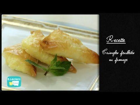 Triangles feuilletés au fromage - La chaîne E-Leclerc et Vous par E.Leclerc