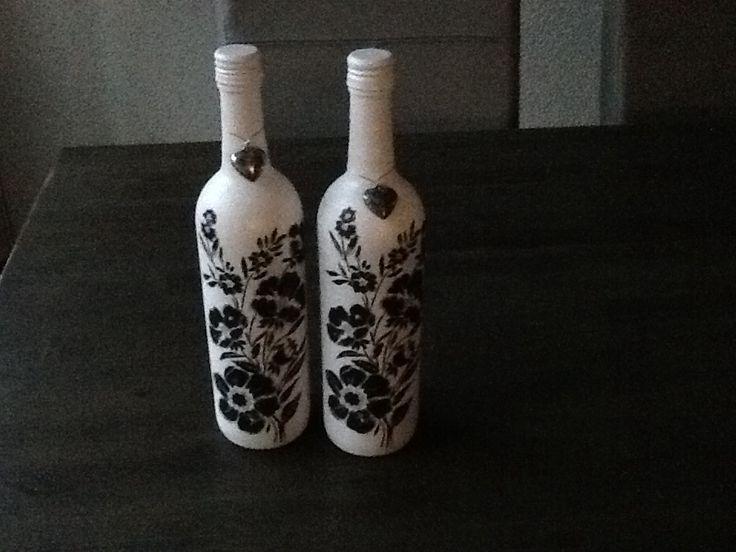 Flessen met gesso en servet