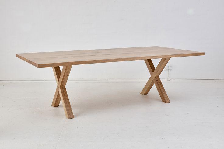 Loughlin Furniture X Table Blackbutt Timber