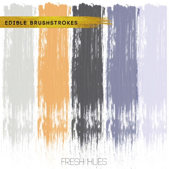 Edible *brushstrokes* | fresh hues