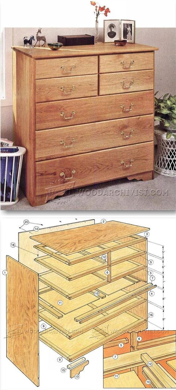 Build chest of drawers furniture plans and projects for 70s wooden couch