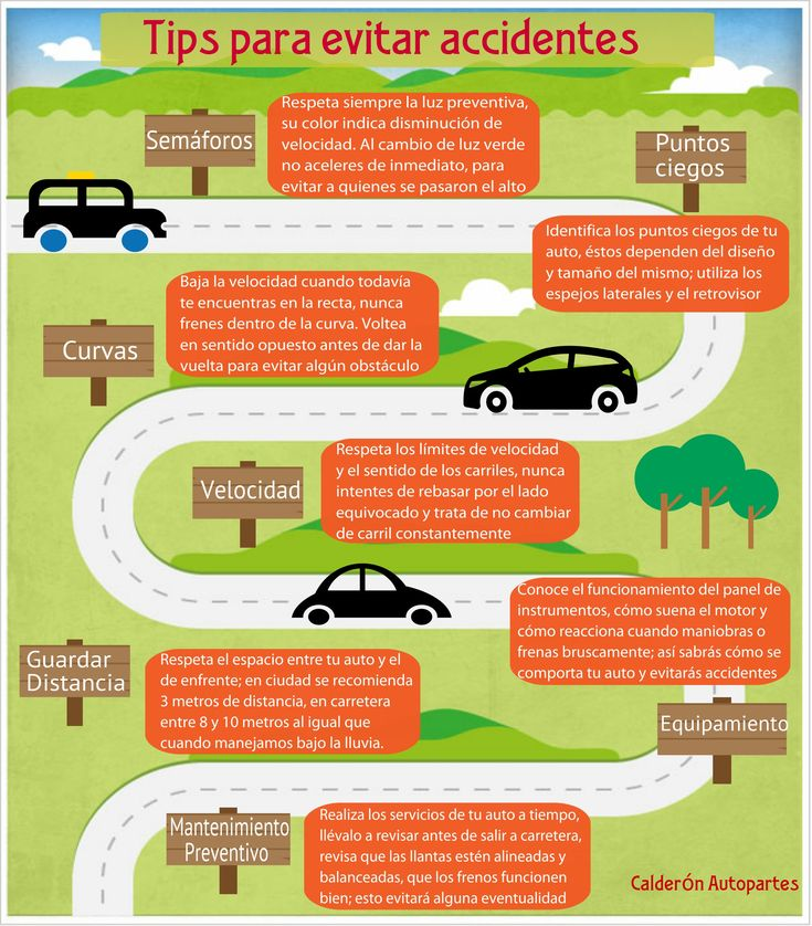 Infografía Tips para evitar accidentes