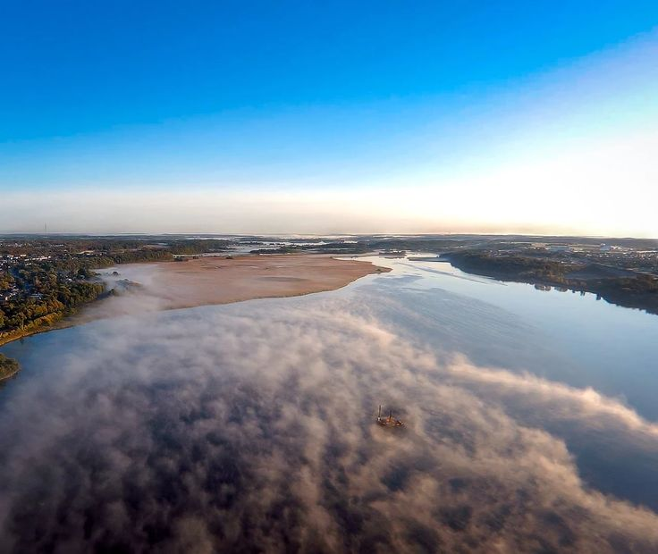 Photo: misty morning on the river