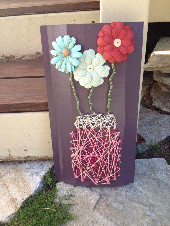 Mason Jar String Art от SavorthemomentCo на Etsy