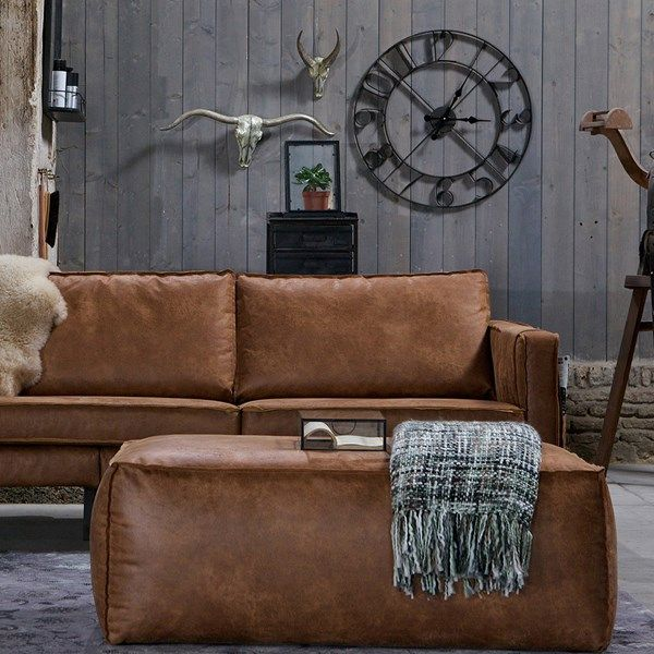 Rodeo 2 Seater Leather Sofa in Tan by BePureHome | Living