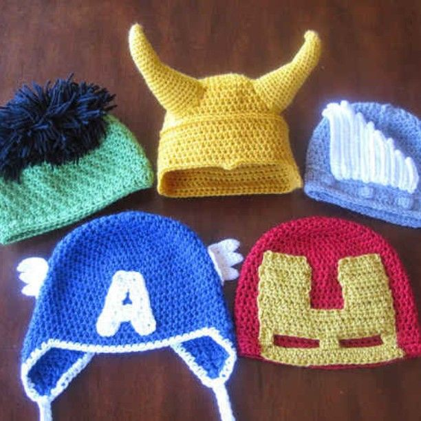 I need to work out how to make these in adult size! #knitting #marvel #hats #geek