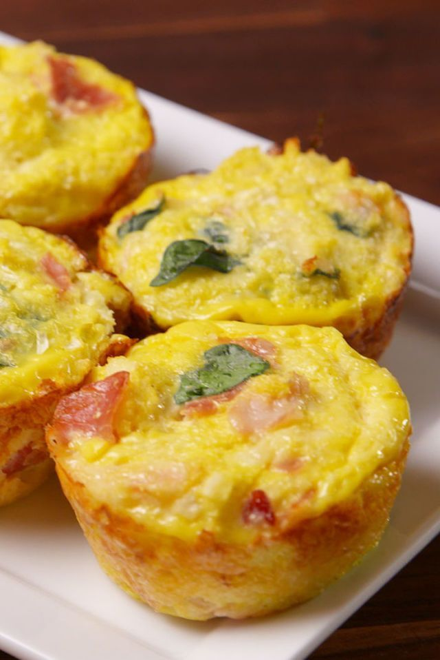 Cauliflower Breakfast Muffins I am thinking to replace the ham with about 6 slices of cooked & diced turkey bacon as I am allergic to pork!