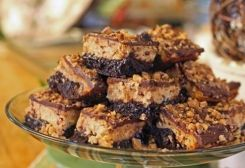 Peanut Butter Toffee Cheesecake Brownies :: Ohio Amish Country Recipes