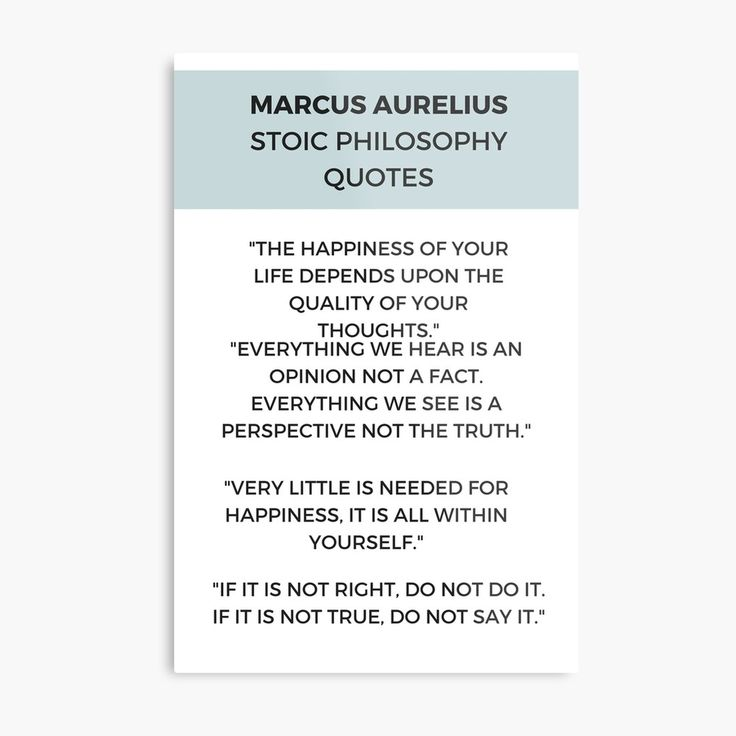 'Stoic Philosophy Quote by Marcus Aurelius' Metal Print by IdeasForArtists