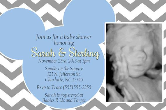 Mickey Baby Shower Invitation  Blue or Teal and by SkyeCreation, $10.00