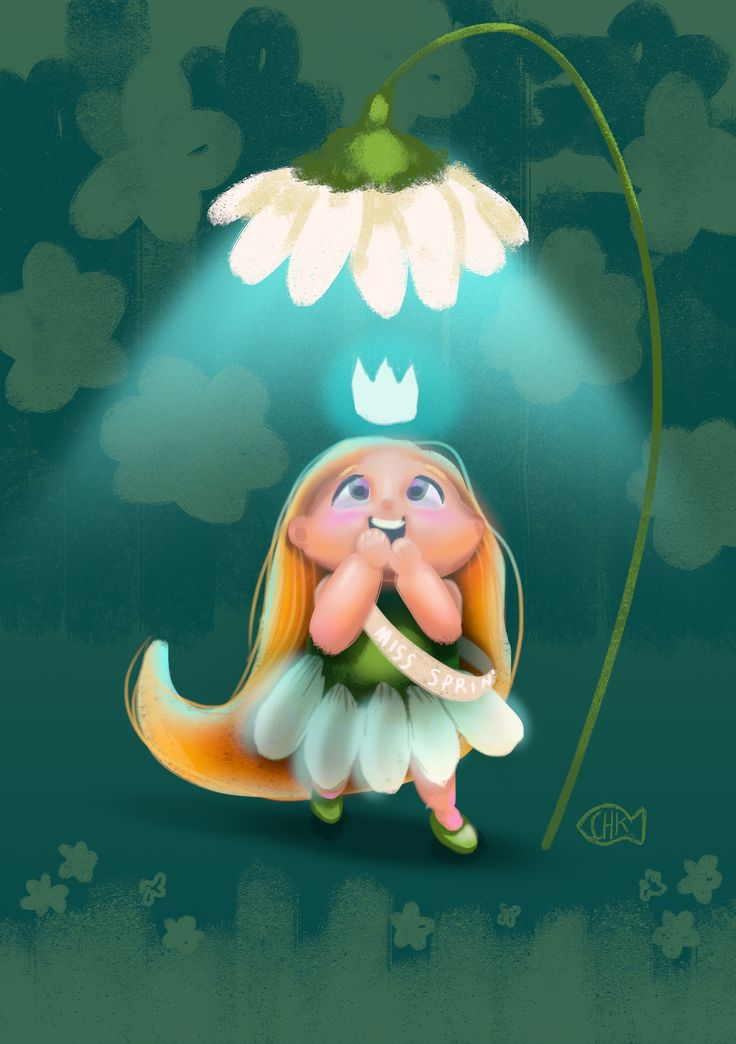 daily spitpaint, miss spring,digital drawing