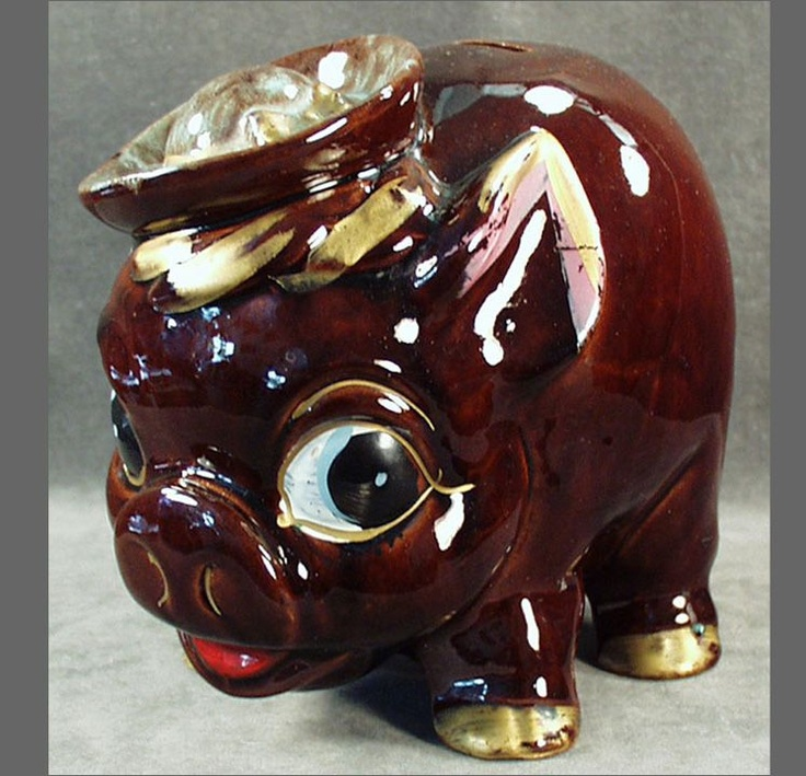 1000 Images About Old Pig Piggy Banks On Pinterest