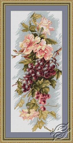 Composition with Grapes - Cross Stitch Kits by Luca-S - B212