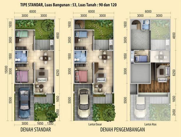 50 best design rumah images on pinterest modern townhouse house denah rumah minimalis type 90 2 lantai malvernweather Gallery