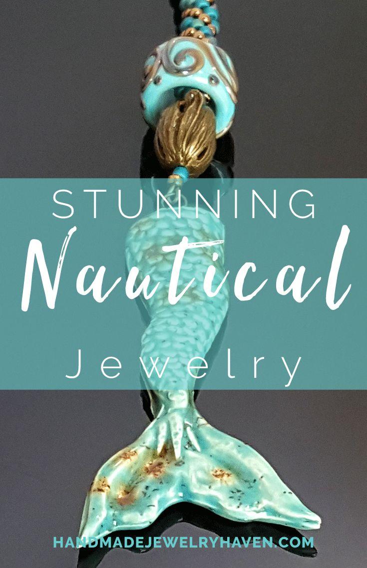 Beautiful Nautical Inspired Jewelry. #mermaidjewelry #nauticaljewelry #beachfashion #yachtfashion #surferjewelry #bohochicstyle